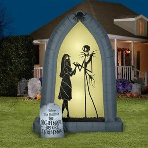 New Airblown Inflatable The Nightmare Before Christmas Jack Sally Archway 7 feet